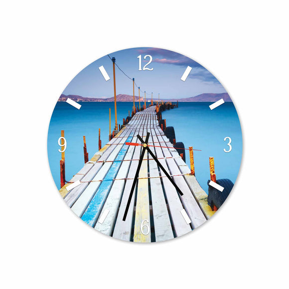 Bridge Bali Beach Round/Square Acrylic Wall Clock