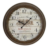 French Inspired Vintage Round Wall Clock