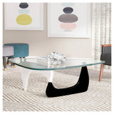Triangle White and Black Coffee Table