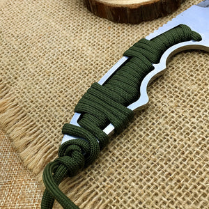 Razer Tanto Etched Pattern Surface Fixed Blade Knife - Stainless Steel Fixed EDC Outdoor Tool for Camping Hiking Trekking BKS5-RAZ-GEN