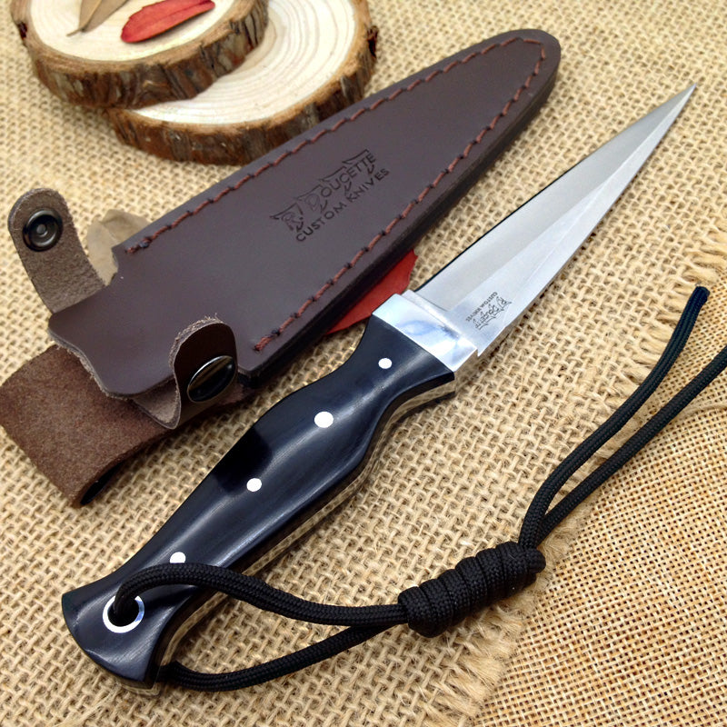 Laser AUS-10A Fixed Blade Knife - EDC Outdoor knife for Camping Hiking Trekking BKS9-LAS-GEN