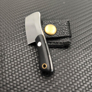 Little Drop Mini Fixed Blade Pocket Knife - Tiny EDC everyday carry for simple tasks KM1-LDP