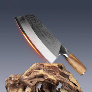 Raijin 40cr13 Stainless Steel Damascus Laser Pattern Meat Boning Knife CLS3-RJ-GEN