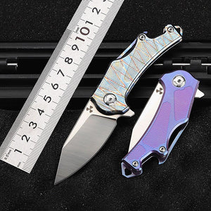 TYR Pocket Folding Knife - EDC Outdoor Tool for Camping Hiking Trekking XLOTS17-TYR