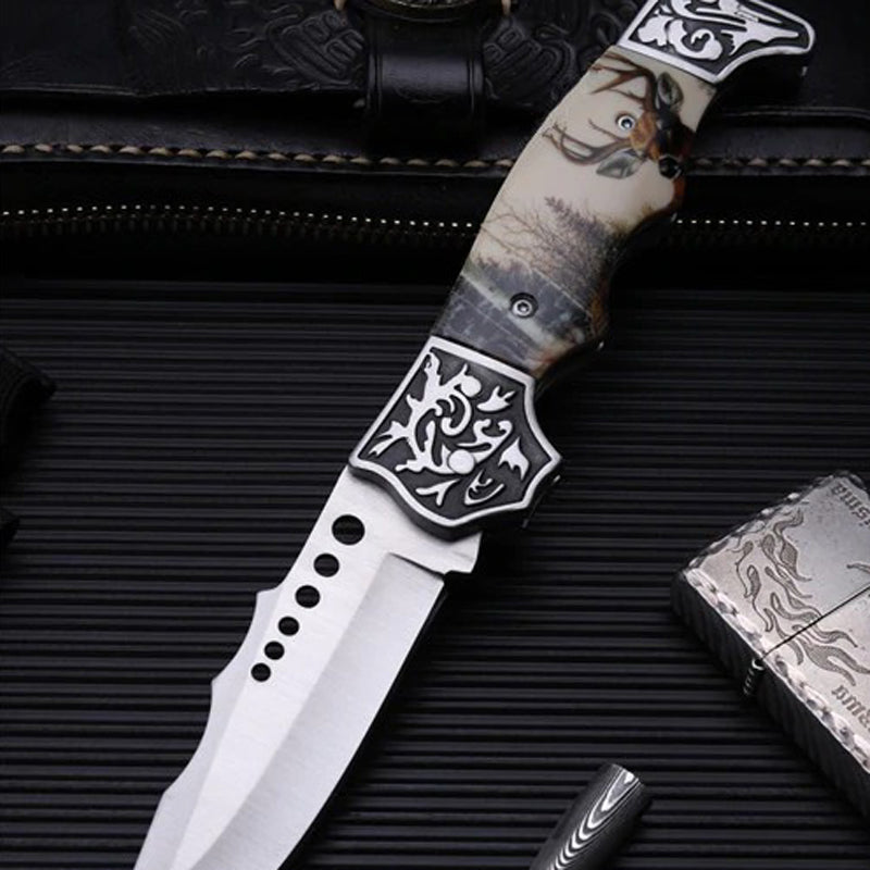 TYR Shika Pocket Folding Knife - EDC Outdoor Tool for Camping Hiking Trekking XLOTS4-TYR-GEN