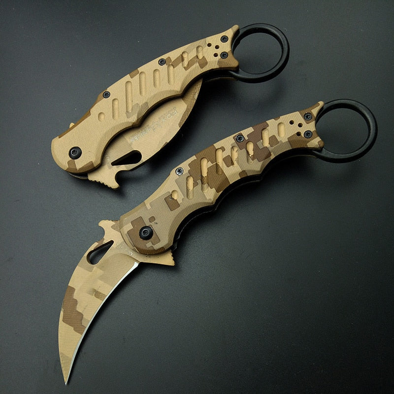 Rebel Karambit Pocket Folding Knife - EDC Outdoor Tool for Camping Trekking Hiking WKS4-REB-PR