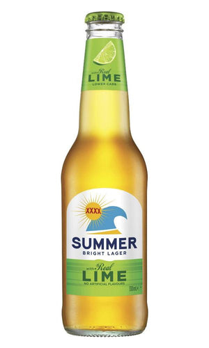 Xxxx SUMMER BRIGHT lager with Lime bottle 330mL - Strathmore cellars