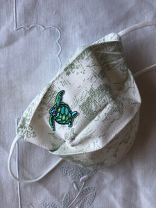 CHILD- age 2-6 green toile/little turtle