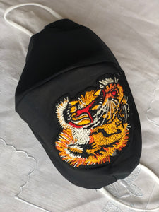 Silk taffeta/tiger profile