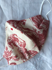 Red toile/little heart