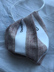 Accordion style silk tweed/designer ribbon 3