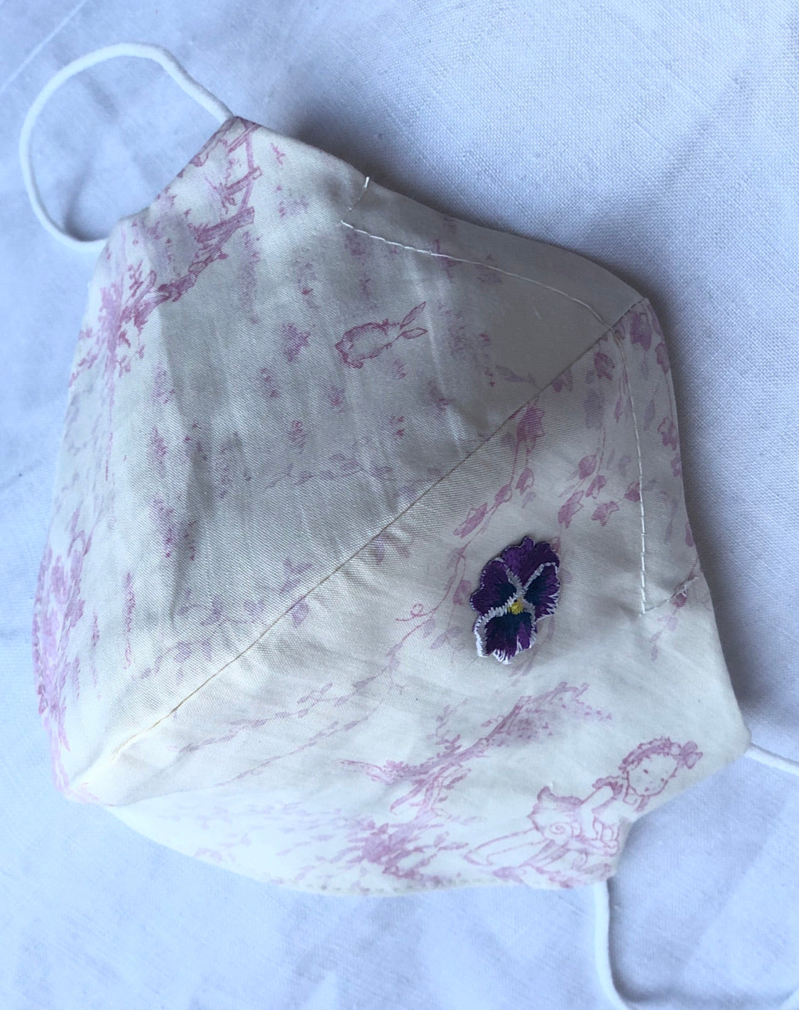 Cotton cream/pink toile/violet