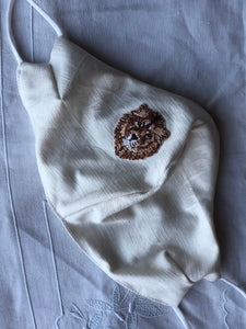 Silk jacquard/lion head