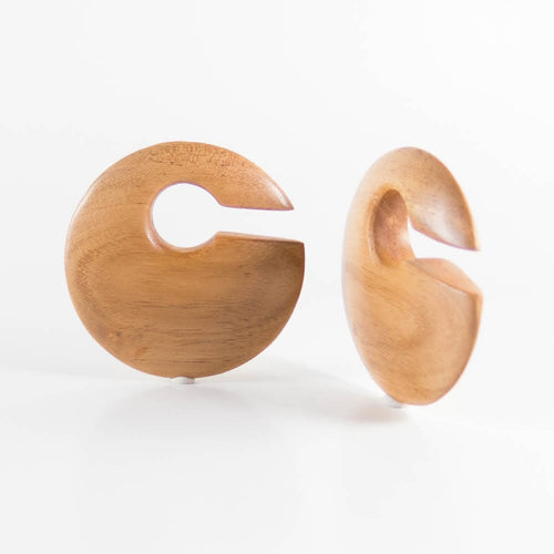Fijian Mahogany Discus Ear Weights