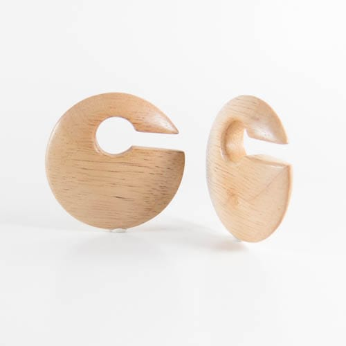 Hevea Wood Discus Ear Weights