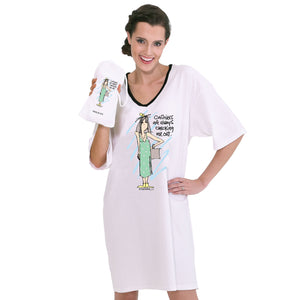 """Cashiers are always checking me out""  Nightshirt in a Bag®"