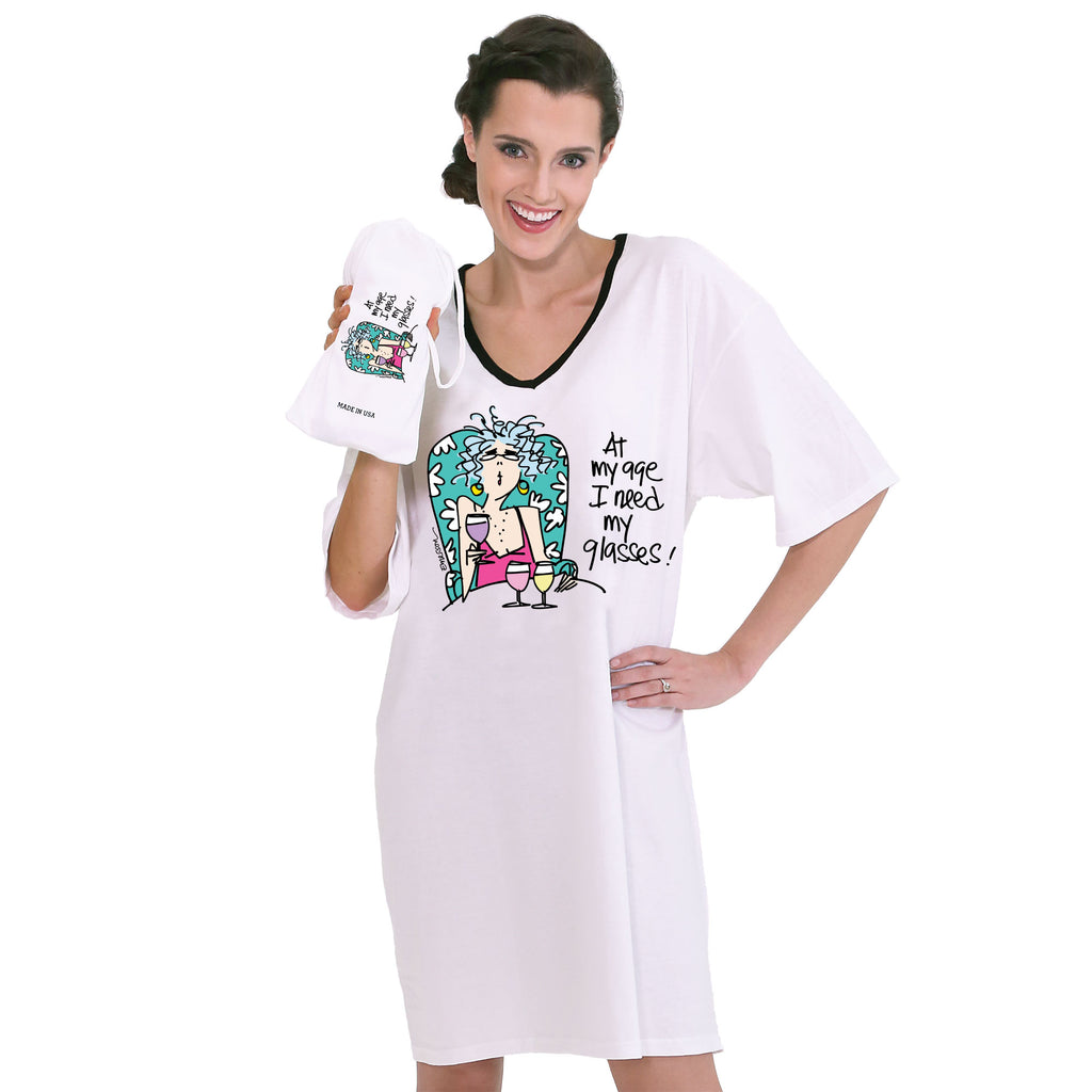 """At my age I need my glasses""   Nightshirt in a Bag"