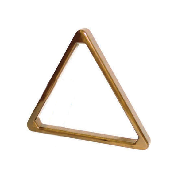 Imperial Bull Nose Wood Triangle, Antique Walnut