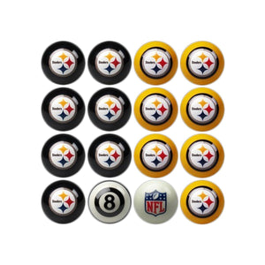 Imperial Pittsburgh Steelers Home vs. Away Billiard Ball Set