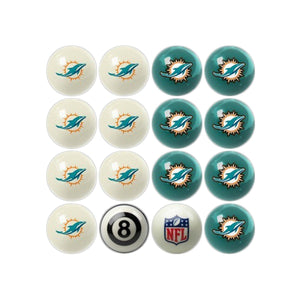 Imperial Miami Dolphins Home vs. Away Billiard Ball Set