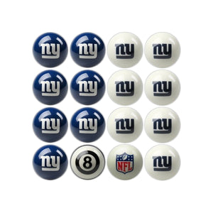 Imperial New York Giants Home vs. Away Billiard Ball Set