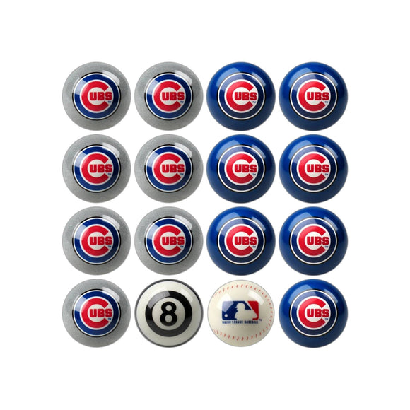 Imperial Chicago Cubs Home vs. Away Billiard Ball Set