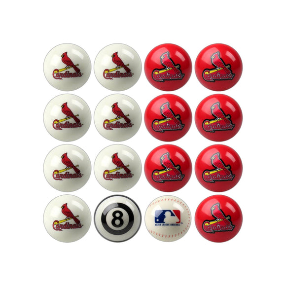 Imperial St. Louis Cardinals Home vs. Away Billiard Ball Set