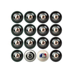 Imperial Oakland Athletics Home vs. Away Billiard Ball Set