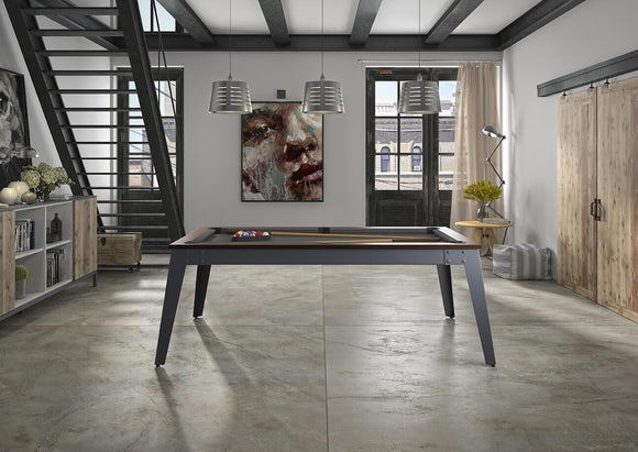 Rene Pierre Billiards Steel Pool Table with Dining Top