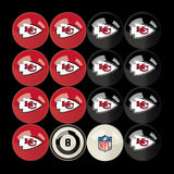 Imperial Kansas City Chiefs Billiard Balls With Numbers