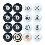 Imperial Chicago Bears Billiard Balls With Numbers