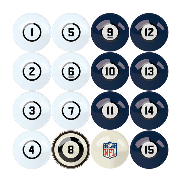 Imperial Seattle Seahawks Billiard Balls With Numbers