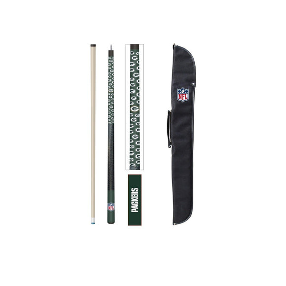 Imperial Green Bay Packers Cue And Case Set