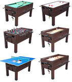 Berner Multi 13-in-1 Combination Game Table in Espresso