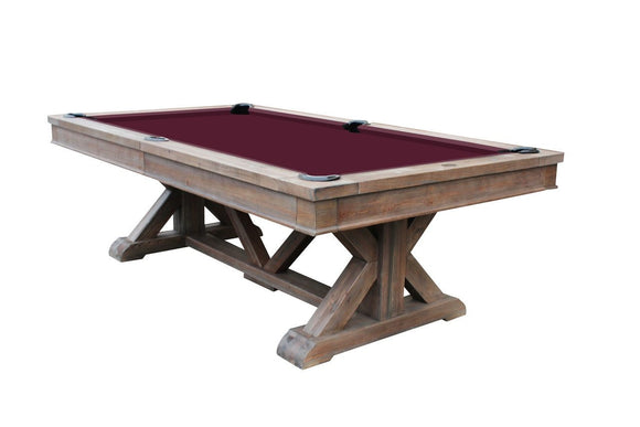 Playcraft Brazos River 8' Slate Pool Table w/ Leather Drop Pockets