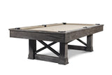 Iron Smyth The Farmhouse 8' Slate Pool Table in Charcoal Finish