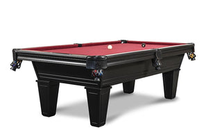 Picture of Iron Smyth The Hunchback 8' Slate Pool Table in Black