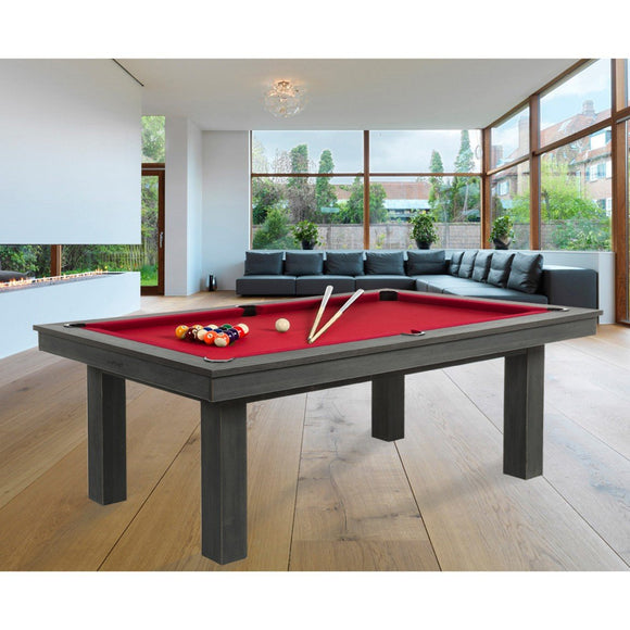 Rene Pierre Billiards Lafite Grey Pool Table with Dining Top
