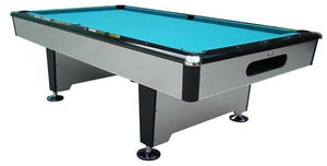 "Berner Billiards 9 ft ""Silver Shadow"" Pool Table (with 1"" slate)"