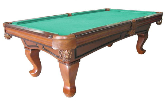 Berner Billiards Furniture Pool Table with Spoon Leg