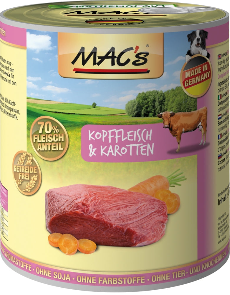 Macs Dog Kopffl.-Karrot. 800gD