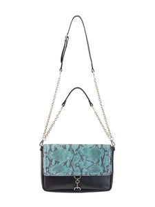 Claudia Fürst • Leather Clutch Bag • Turquoise Snake