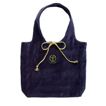 Load image into Gallery viewer, Claudia Fürst • Hobo Bag • Velvet • S • NavyBlue
