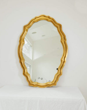 Nice Vintage Things  Housewares 1980s Decorative Art in New York Oval Shaped Mirror