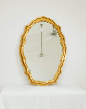 Nice Vintage Things  Mirror 1980s Decorative Art in New York Oval Shaped Mirror