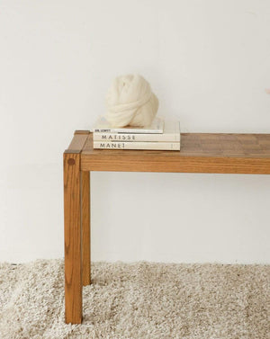 Conant Ball Furniture Square Detail Wood Sofa/Console Table - Nice Vintage Things