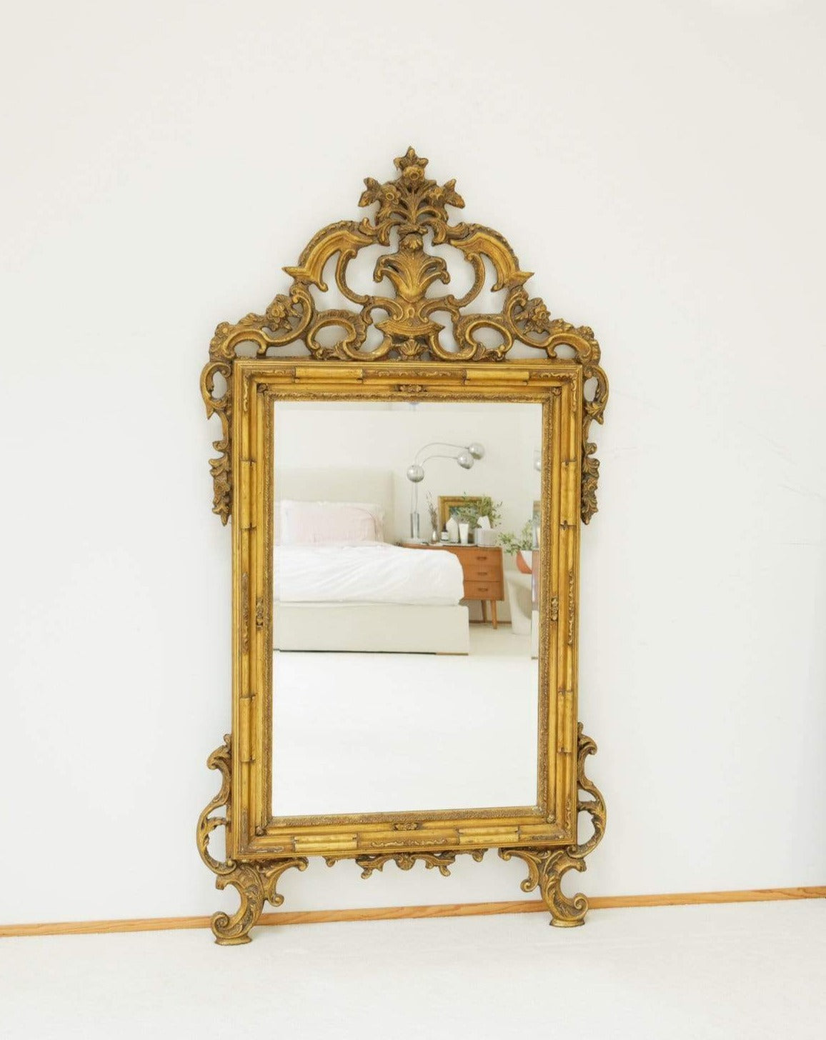 Nice Vintage Things  Mirror Late 20th Century Giltwood Louis XV Style Hall Mirror