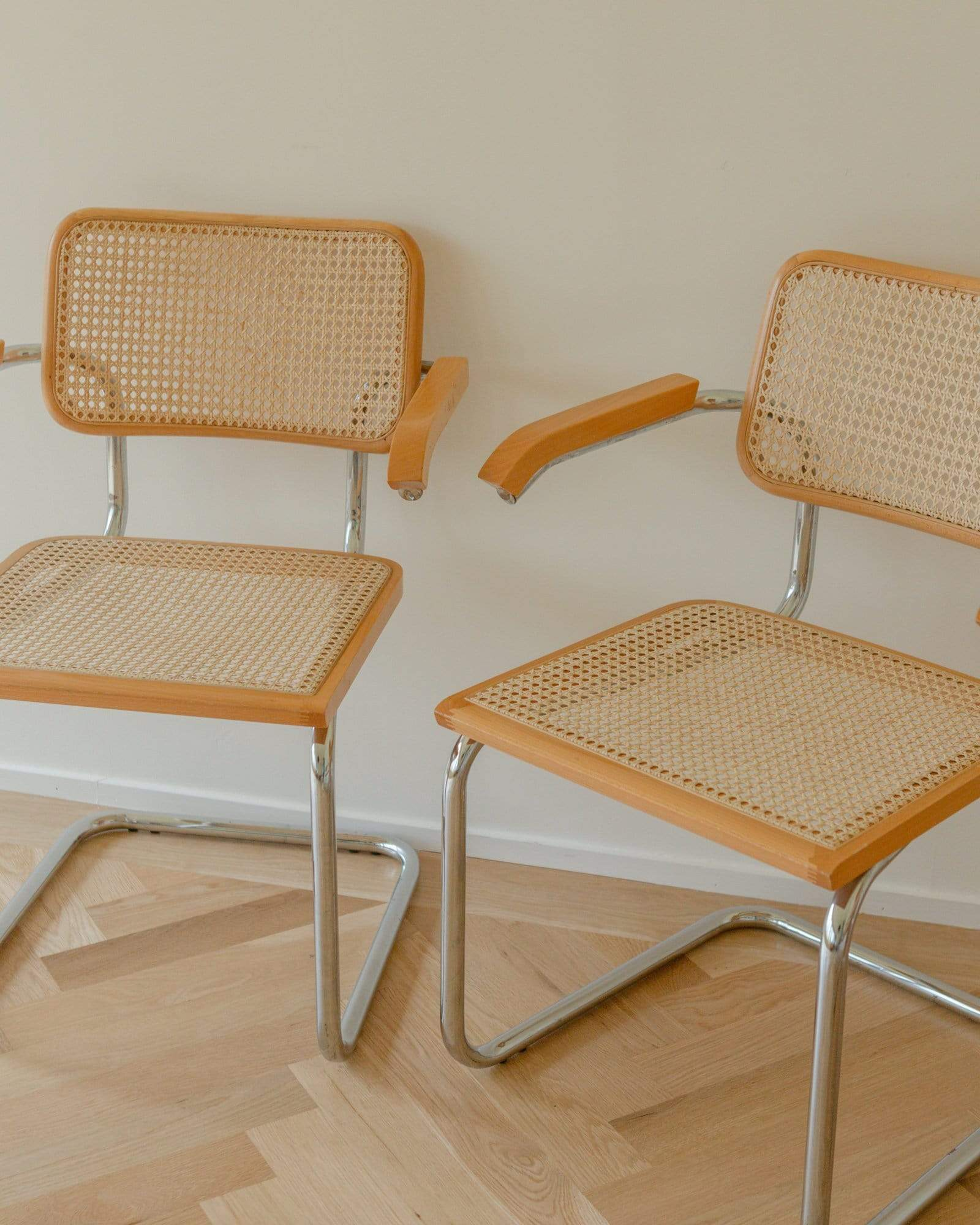 Marcel Breuer Bauhaus Cesca Armchairs, Manufactured in Italy, Set of 2 or Set of 4 - Nice Vintage Things