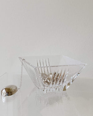 Tiffany & Co Crystal Square Bowl - Nice Vintage Things