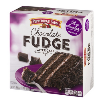Chocolate Fudge Cake (Pepperidge Farm) 19.6oz Product